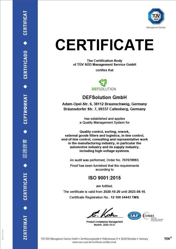 ZERTIFIKAT ISO 9001:2015 1